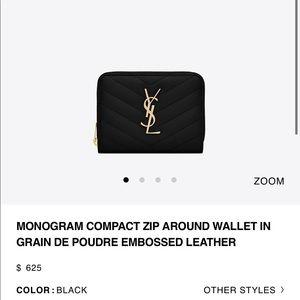 Saint Laurent YSL wallet used once !